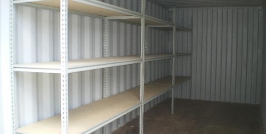 20' modular shelving